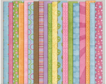 Spring At Last Papers - Digital Scrapbooking Papers