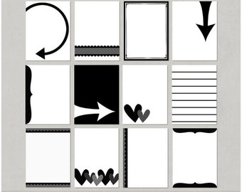Journal It 3x4 Card Templates for Digital Scrapbooking