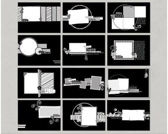 5x7 FAVS Mini Album Brag Book Digital Scrapbooking Templates