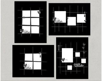 Gridz - 8.5x11 Digital Scrapbooking Templates