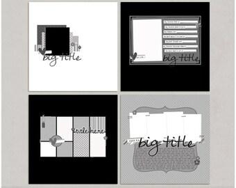 Sample Pack 27 - 12x12 Digital Scrapbooking Templates
