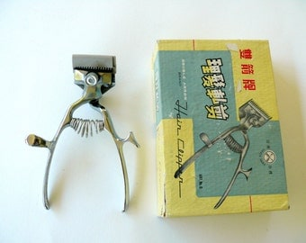 Barber Hair Clipper in Original Box, Vintage Barber Tool, Barber Shop Hair and Beard Clippers, Hairdressing Tool