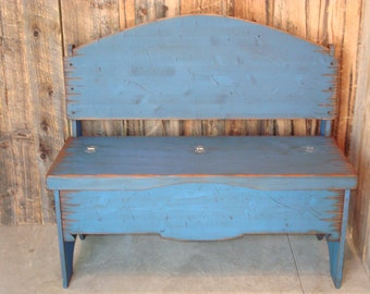 Trunk Bench, Storage Bench, Western Bench, Solid Pine Wood Trunk Bench, Bench Seat Trunk