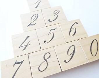 Number stamp handmade, Wedding table number, Handmade birthday card, Elegant font, Christmas wedding, Japanese stamp, Kawaii Japan