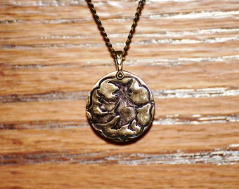 Flying Witch Pendant and Chain