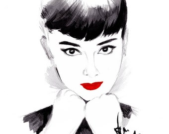 Audrey Hepburn -Canvas Wall Art