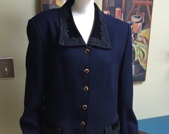 Vintage 1940s Style Designer Women's Suit