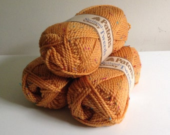 Patons Shetland Chunky Tweeds - Bronze - 67609 - Orange Yellow Tweed Bulky