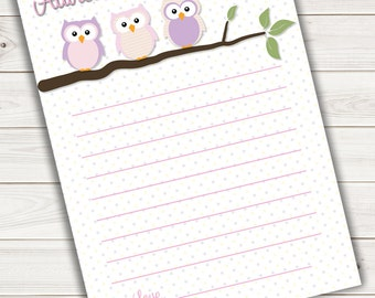 Baby Shower Advice Card Pink Owl~Printable~INSTANT DOWNLOAD