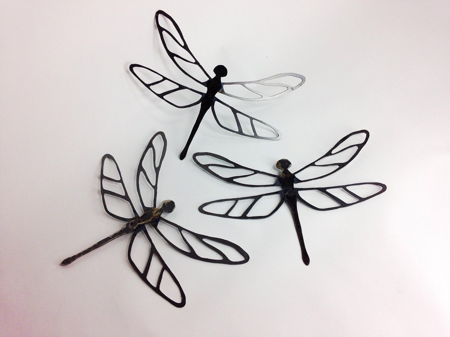 Metal Dragonfly Wall Hanging Art One Dragonfly By IronMaidArt