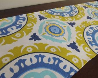 TABLE RUNNER Royal Dark Blue, White