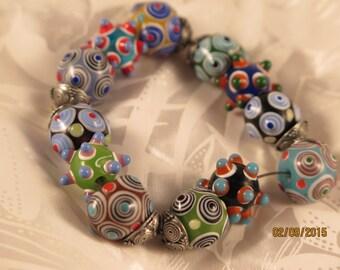 Fabulous Lampwork Beaded Bracelet