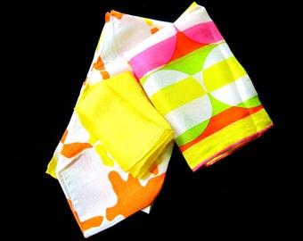 Bright Colorful Scarves Vera Scarf Hadson Silk Scarf Arts Crafts