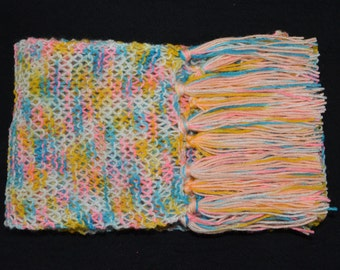 Hand knitted Scarf Multicolored, Winter scarf, Christmas Gift under 30, Winter Accessories, Woollen scarf, Hand knitted, Scarf, Gift for all