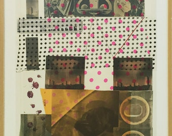 """Robert Rauschenberg """"Cage"""" - 1983 - Signed Screenprint/Collage - COA - See Live At GallArt"""