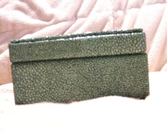 Embossed Leather Faux Shagreen Box
