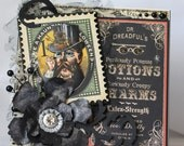 Winter Sale! Dr. Dreadful's Potions and Charms Halloween Card, Greeting Card, 3D, Keepsake Card