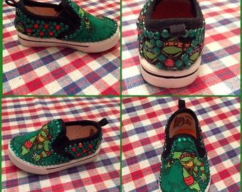 Handmade Teenage Mutant Ninja Turtles baby-Kids shoes!!
