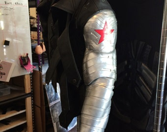 Captain America Winter Soldier Bucky Barnes Bionic Arm and Mask with Goggles