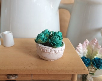 Pottery with Flowers - Barro con flores. 1:12 scale Dollhouse Miniature