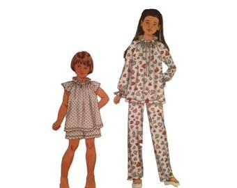 Uncut Simplicity 9400, Girls Pajamas, Top, Bottom, Size 3  4  5  6  7  8  10  12, Sleepwear Sewing Pattern