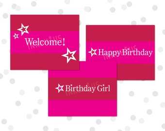 PRINTABLE - 8x10 Party Signs - American Girl Inspired Birthday Party Collection - Set of 3 - INSTANT DOWNLOAD