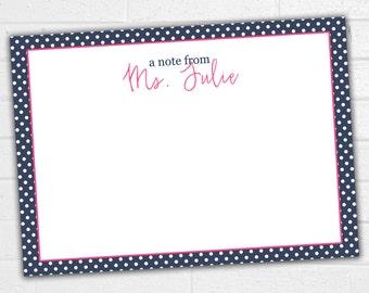 Teacher Note Cards - Teacher Stationery - Teacher Christmas Gift - Teacher Appreciation Gift - Personalized Notepad Teacher - Notecards