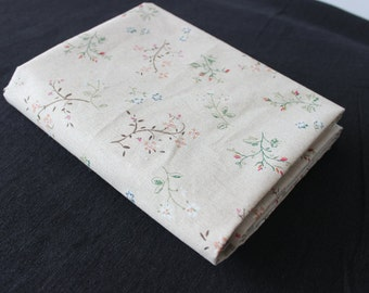 ZAKKA Style Chic Floral Cotton Linen Fabric, Vintage Fabric for tablecloth/home decor ETC  - 1/2 yard