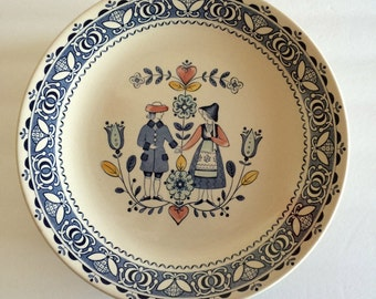Staffordshire Hearts & Flowers Johnson Bros China Dinner Plate - Old Granite England - 11 Available - Charming Folk Pennsylvania Dutch Style