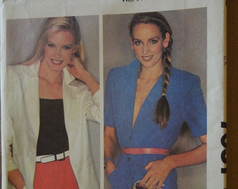 McCalls 7051, Size 14, blazer, misses, womens, cut and complete sewing pattern in vg condition, craft supplies