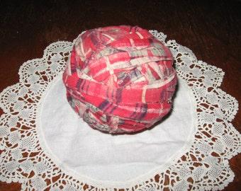 Antique Primitive Authentic rag ball