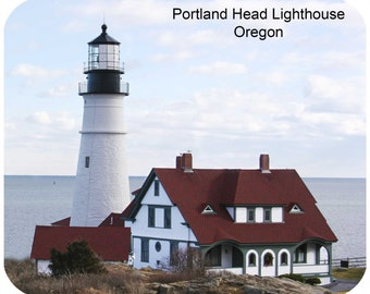 Custom, personalized mouse pad - Portland Head Lighthouse, ME-Add your own text