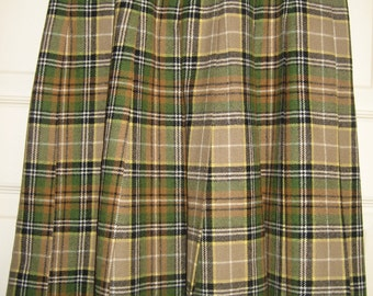 Pendelton vintage pleated plaid skirt, size 12