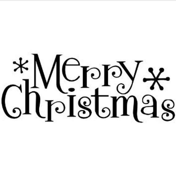 Merry christmas word wall stencil by jennadecalsandmore on