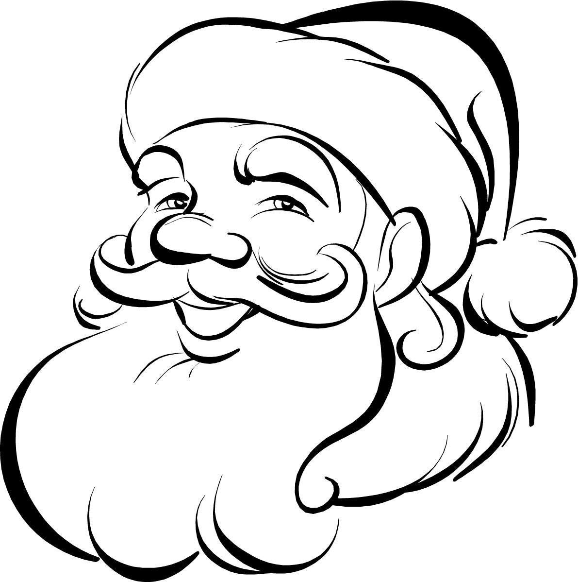 coloring pages santa claus face - photo#11
