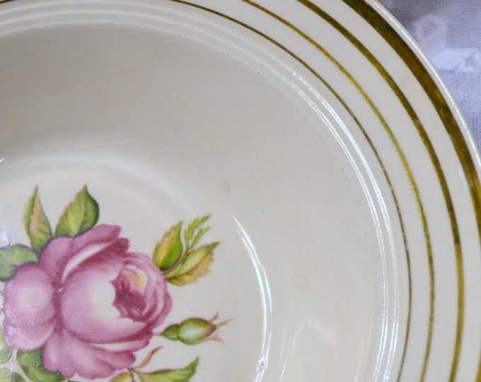 Vintage Mount Vernon by Salem China Co Serving Bowl Set of 2 Pink Rose Design Chippy PanchosPorch