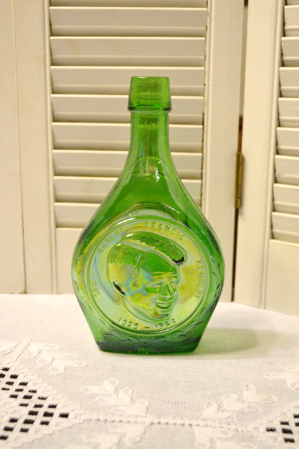 Vintage Wheaton Glass Bottle Robert F Kennedy Collectible