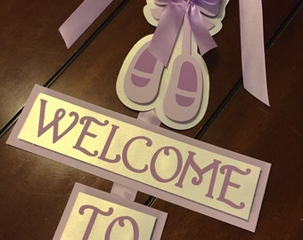 Baby Shower door sign