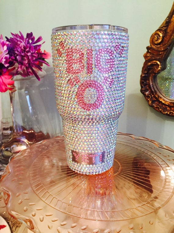Yeti Rambler 30 oz with Full Rhinestones and Personalization