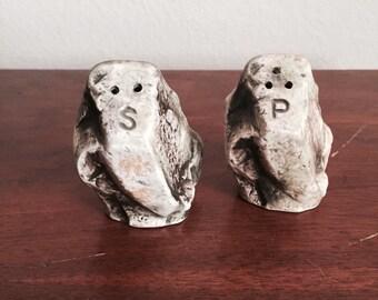 Enesco salt & pepper shakers, shaped like rocks