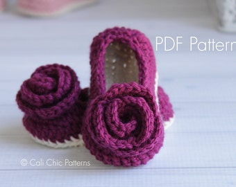Crochet PATTERN 324 - Charlotte Baby Shoes pattern - Crochet baby shoes pattern - Instant Download PDF Pattern