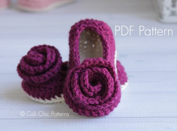 Free Crochet Pattern For Baby Shoe Sole : Crochet PATTERN 324 Charlotte Baby Shoes pattern Crochet