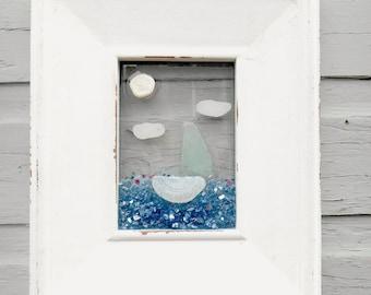 Sailboat Art, Sailboat Wall Decor, Beach House Decor, Seashore Decor, Nautical Nursery, Nautical Xmas Gift, Beach Holiday Gift