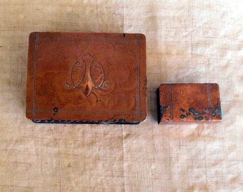 Hammered Copper Smoking Set, Craftsman 502