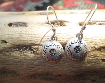 Sterling Concho Dangle Earrings