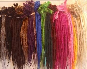 50 DE FULL SET Custom Synthetic Dreadlocks  Double Ended Extensions Synth dreads Handmade Goddess  Hair