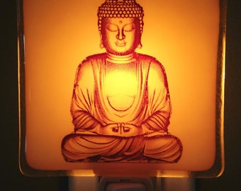 Buddha Fused Glass Night Light