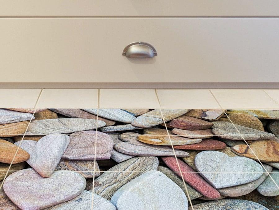 boden fliesen aufkleber set von 15 f r bad wc steinernen. Black Bedroom Furniture Sets. Home Design Ideas