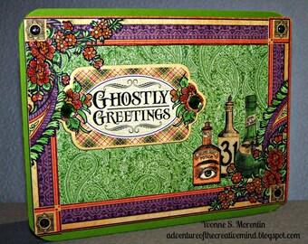 Ghostly Greetings... Greeting Card