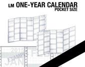 2018 / 1 year Calendar / Pocket - Inserts Refills Filofax Binder Collins